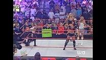 2005 10-3 Wwe Raw Bra & Panties 3 On 2 Match - Torrie Wilson, Candice Michelle & Victoria Vs Trish Stratus & Ashley