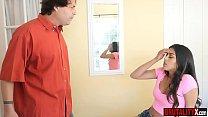Disobedient latina stepdaughter punished by stepdad صورة
