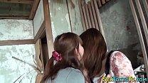 หนังเลสเบี้ยนสองสาวพามาเสียวที่บ้านร้างเล่นเอากางเกงในมีควยเย็ดกันมันส์หล่ะสิ