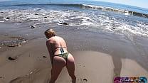 Fucking the blonde beach babe I helped to take selfies - Matthias Christ