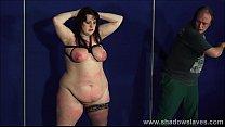Fat slaveslut Emma tit tortured and breast whipping of bbw masochist in cruel face punishment and merciless humiliation Vorschaubild