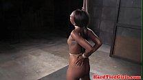 Ebony bdsm sub toyed by black maledom