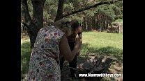 Horny Granny Fucks A Young Lad In The Woods Vorschaubild