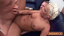 MAGMA FILM Blonde German slut in amateur gangbang thumbnail