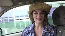 Teen cowgirl banged outside pov thumbnail