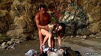 Tattooed bimbo Alexa Nasha rides a rock solid c...