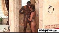Babe gives erotic soapy massage 4