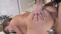 Neighbor ties up and anal fucks busty babe