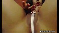 Ebony wet webcam video