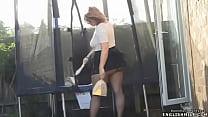 Pantyhose upskirt British big butt wife in mini... />                             <span class=