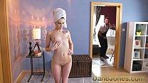 Dane Jones Big cock handyman paints home alone cute teens face with his cum thumbnail