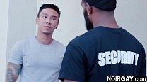 Black gay security fucks the suspect - interracial gay sex's Thumb