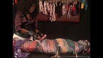 Scarf silk bondage tease denial milking chastity cage maitresse akina video