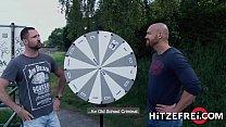HITZEFREI Ta ttooed short haired MILF takes a big dick