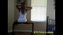 Slim Ebony Teen Sexy Twerk Striptease - Ameman