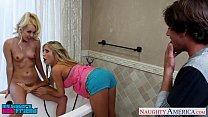 Blonde sirens Aaliyah Love and Tasha Reigh share cock {dad fuck video} thumbnail