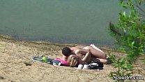 kajaisex ◦ Deutsches Teeny Paar heimlich bei Sex am Strand gefilmt thumbnail