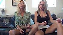 Blondes in skirts give jerk off instruction - www.fuck-se.xyz/livecam pornhub video