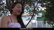 Oyeloca Small tits latina teen Arelis Lopez shaved pussy fucked