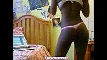 AllYourPix.com - Black Girl In Thong Stripping N Dancing Nude thumbnail