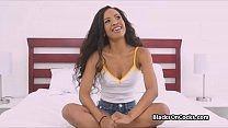 Super fine black beauty sucks cock at audition