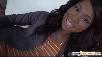 Ebony Teen Amateur takes it in the Ass - 9Club.Top