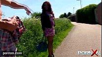 Ebony Milf Flashing in public thumbnail