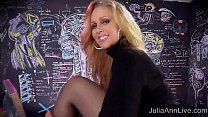 Sexy Milf Julia Ann Sweater Strip Tease & Solo! Thumbnail
