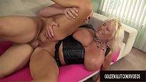 Granny big tits blowjob