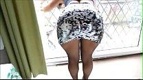 Shiny Ass Skirt Fishnets Big Butt