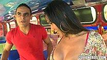 Sexy Latina Amateur on Bus