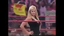Torrie Wilson vs Trish Stratus. Spanking match.