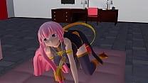 ตัวการ์ตูนแนว3Dผมยาวสีชมพูมาทำท่าชักว่าวดูดควยให้ดูโดจิน โลลิ