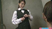 Dirty and kinky barmaid Rino plays solo with audienc [스타킹 stockings]