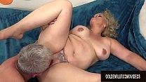 Horny Grandpa Has Hot Mature Sex with Chubby Floozy Summer