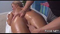 Massage table sex video