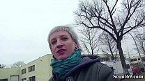 German Scout - Skinny Emo Teen Luna in Street Porn Casting ภาพขนาดย่อ