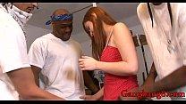 Redhead babe Violet Monroe anal banged by black...
