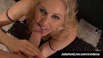 Beautiful Cougar Julia Ann Blows Cock & Spits C...'s Thumb