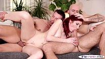 Bi studs spitroasting redhead babe in mmf />                             <span class=