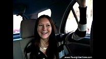 Nastya sex in car POV
