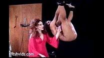 Hanged babe enjoy pussy spanking image