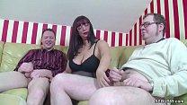 German MOM Teach Step-Son and Friend how To Fuck in 3some Vorschaubild