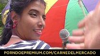 CARNE DEL MERCADO - Hot blowjob, fuck and facial with Latina babe Yamile Mil Vorschaubild