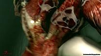[dezmall] Dangerous tunnel ~Claire Redfield~ [720p] [3D 몬스터 3d monster]