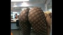 Big booty eb ony in fishnet