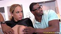 Olivia Austin Takes Two Black Cocks - Cuckold Sessions