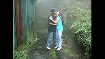www.indiangirls.tk Indian girl sucking and fucking outdoors in rain thumbnail