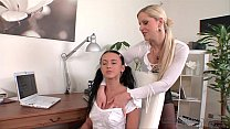 Sandra De Marco and Angelica Kitten Licking Pus...