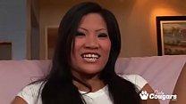 Gap Tooth Asian Christina Aguchi Sucks A Cock Dry